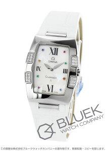 オメガ OMEGA 腕時計 コンステレーション クアドレラ ダイヤ アリゲーターレザー レディース 1886.79.36
