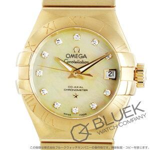 オメガ コンステレーション ブラッシュ ダイヤ YG金無垢 腕時計 レディース OMEGA 123.50.27.20.57.002