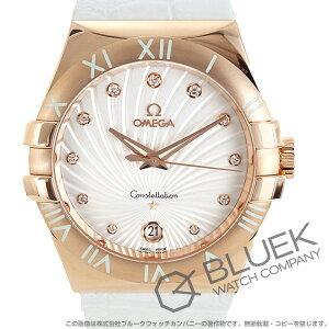 オメガ コンステレーション ダイヤ RG金無垢 アリゲーターレザー 腕時計 レディース OMEGA 123.53.35.60.52.001