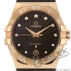 オメガ コンステレーション ダイヤ RG金無垢 アリゲーターレザー 腕時計 レディース OMEGA 123.53.35.60.63.001