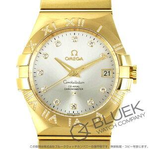 オメガ コンステレーション ブラッシュ ダイヤ YG金無垢 腕時計 メンズ OMEGA 123.55.35.20.52.004
