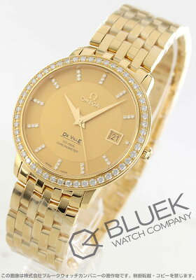 オメガ OMEGA 腕時計 デビル プレステージ ダイヤ YG金無垢 メンズ 413.55.37.20.58.001