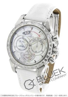 オメガ デビル コーアクシャル クロノスコープ クロノグラフ ダイヤ アリゲーターレザー 腕時計 ユニセックス OMEGA 422.98.41.50.05.001