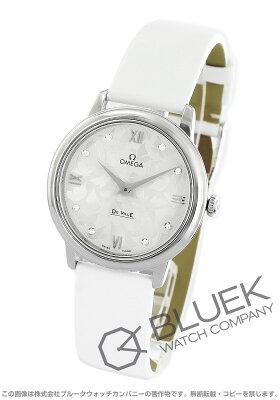 オメガ OMEGA 腕時計 デビル プレステージ バタフライ ダイヤ サテンレザー レディース 424.12.33.60.52.001