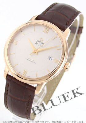 オメガ デビル プレステージ RG金無垢 アリゲーターレザー 腕時計 メンズ OMEGA 424.53.40.20.02.001