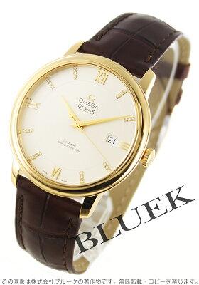 オメガ OMEGA 腕時計 デビル プレステージ ダイヤ YG金無垢 アリゲーターレザー メンズ 424.53.40.20.52.001