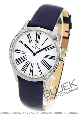 オメガ デビル トレゾア ダイヤ サテンレザー 腕時計 レディース OMEGA 428.17.36.60.04.001