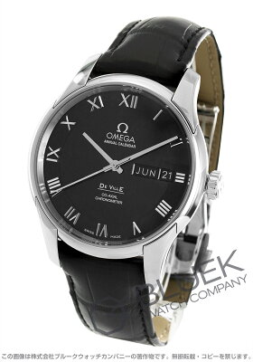 オメガ デビル アニュアルカレンダー アリゲーターレザー 腕時計 メンズ OMEGA 431.13.41.22.01.001