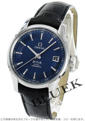 オメガ デビル アワービジョン アニュアルカレンダー アリゲーターレザー 腕時計 メンズ OMEGA 431.33.41.21.03.001