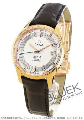 オメガ OMEGA 腕時計 デビル アワービジョン RG金無垢 アリゲーターレザー メンズ 431.63.41.21.02.001