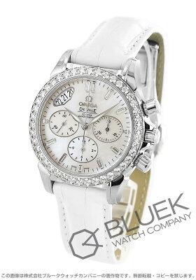 オメガ OMEGA 腕時計 デビル コーアクシャル クロノスコープ ダイヤ WG金無垢 アリゲーターレザー レディース 4679.75.36