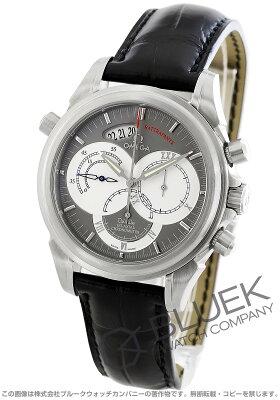 オメガ デビル コーアクシャル ラトラパンテ クロノグラフ アリゲーターレザー 腕時計 メンズ OMEGA 4848.40.31