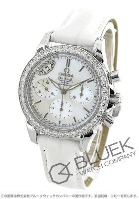 オメガ デビル コーアクシャル クロノグラフ ダイヤ アリゲーターレザー 腕時計 レディース OMEGA 4877.7036