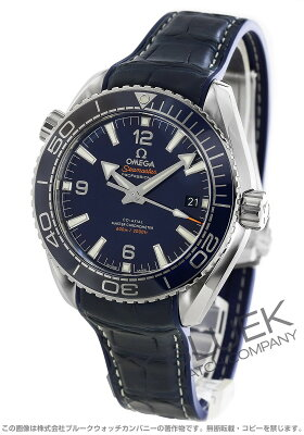 オメガ OMEGA 腕時計 シーマスター プラネットオーシャン マスタークロノメーター アリゲーターレザー 600m防水 メンズ 215.33.44.21.03.001