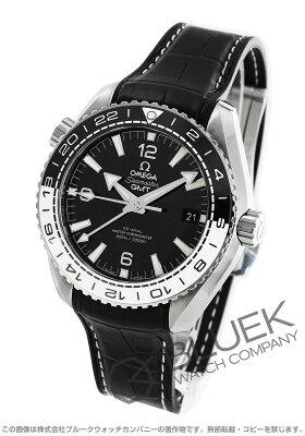 オメガ シーマスター プラネットオーシャン マスタークロノメーター GMT 600m防水 アリゲーターレザー 腕時計 メンズ OMEGA 215.33.44.22.01.001