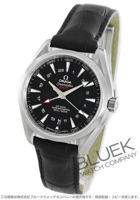 オメガ シーマスター アクアテラ GMT アリゲーターレザー 腕時計 メンズ OMEGA 231.13.43.22.01.001