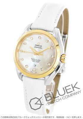 オメガ シーマスター アクアテラ ダイヤ アリゲーターレザー 腕時計 レディース OMEGA 231.23.34.20.55.002