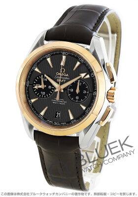 オメガ シーマスター アクアテラ クロノグラフ GMT アリゲーターレザー 腕時計 メンズ OMEGA 231.23.43.52.06.001