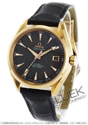 オメガ OMEGA 腕時計 シーマスター アクアテラ RG金無垢 アリゲーターレザー メンズ 231.53.42.21.06.001