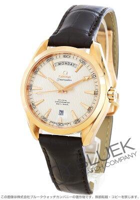 オメガ シーマスター アクアテラ デイデイト RG金無垢 アリゲーターレザー 腕時計 メンズ OMEGA 231.53.42.22.02.001