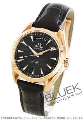 オメガ シーマスター アクアテラ デイデイト RG金無垢 アリゲーターレザー 腕時計 メンズ OMEGA 231.53.42.22.06.001