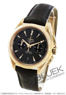 オメガ シーマスター アクアテラ クロノグラフ GMT RG金無垢 アリゲーターレザー 腕時計 メンズ OMEGA 231.53.43.52.06.001