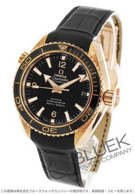 オメガ シーマスター プラネットオーシャン セラゴールド 600m防水 RG金無垢 アリゲーターレザー 腕時計 メンズ OMEGA 232.63.42.21.01.001