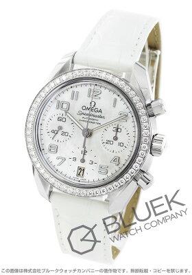 オメガ スピードマスター 38 クロノグラフ ダイヤ アリゲーターレザー 腕時計 ユニセックス OMEGA 324.18.38.40.05.001