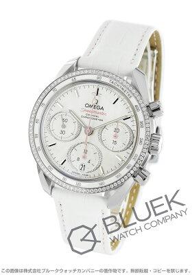 オメガ スピードマスター 38 クロノグラフ ダイヤ アリゲーターレザー 腕時計 ユニセックス OMEGA 324.38.38.50.55.001