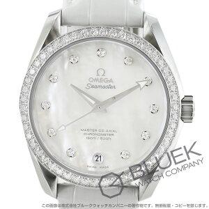 オメガ シーマスター アクアテラ ダイヤ アリゲーターレザー 腕時計 ユニセックス OMEGA 231.18.39.21.55.001
