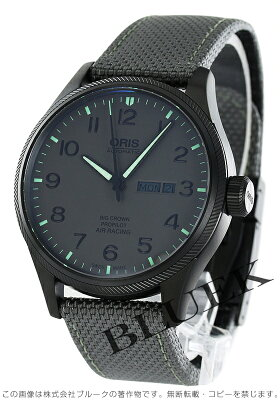 オリス ORIS 腕時計 ビッグクラウン サテンレザー メンズ 735 7698 4783D
