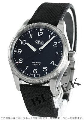 オリス ORIS 腕時計 ビッグクラウン サテンレザー メンズ 751 7697 4164D