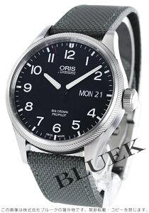 オリス ORIS 腕時計 ビッグクラウン サテンレザー メンズ 752 7698 4164DGY