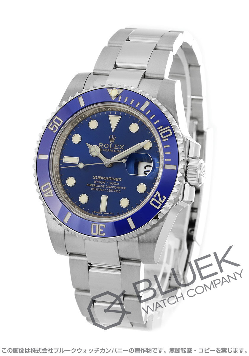 ロレックス サブマリーナー デイト 300m防水 WG金無垢 腕時計 メンズ ROLEX 116619LB