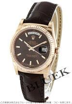 ロレックス Rolex デイデイト PG金無垢 アリゲーターレザー メンズ Ref.118135
