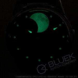 シャウボーグ ムーン ムーンギャラクシー パーペチュアルムーン ムーンフェイズ クロコレザー 腕時計 メンズ SCHAUMBURG MOON-GALAXY