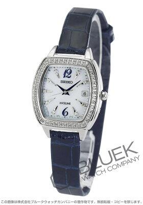 セイコー SEIKO 腕時計 エクセリーヌ ダイヤ クロコレザー レディース SWCW089