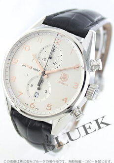 Tag Heuer Carrera calibre 1887 automatic chronograph with crocodile leather Black / Silver mens CAR2012... FC6235