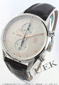 Tag Heuer Carrera calibre 1887 automatic chronograph Leather Brown / silver mens CAR2012... FC6236