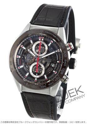 タグホイヤー TAG Heuer 腕時計 カレラ ホイヤー01 アリゲーターレザー メンズ CAR201U.FC6405