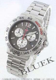 1 タグホイヤーフォーミュラ chronograph Indy 500 anthrasite gray & silver men CAU1113.BA0858