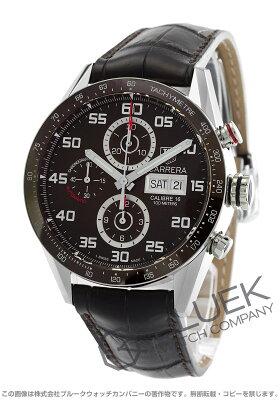 タグホイヤー カレラ クロノグラフ アリゲーターレザー 腕時計 メンズ TAG Heuer CV2A1S.FC6236
