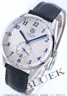 Tag Heuer Carrera calibre 6 automatic small second leather blue / silver mens WAS2111... FC6293