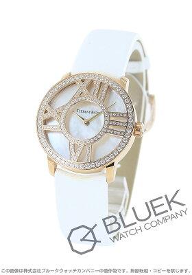 ティファニー アトラス ダイヤ RG金無垢 サテンレザー 腕時計 レディース TIFFANY Z1901.10.30E91A40B