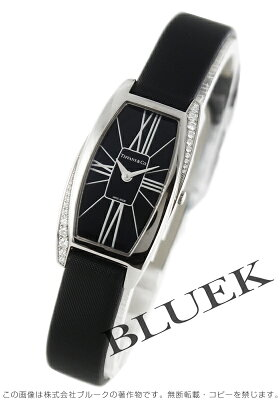 ティファニー ジェメア ダイヤ WG金無垢 サテンレザー 腕時計 レディース TIFFANY Z6400.10.40F10A40E