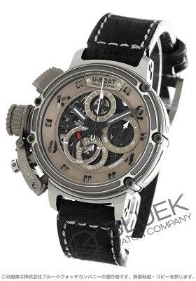 ユーボート キメラ チタン スケルトン 世界限定499本 クロノグラフ アリゲーターレザー 腕時計 メンズ U-BOAT 8066