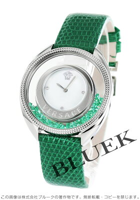 ヴェルサーチェ ディスティニー プレシャス ダイヤ リザードレザー 腕時計 レディース VERSACE 86Q961MD497S455