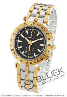 ヴェルサーチェ V-レース クロノグラフ 替えベルト・ベゼル付き 腕時計 メンズ VERSACE VAH020016