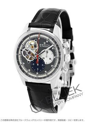 ゼニス Zenith 腕時計 エル プリメロ クロノマスター オープン アリゲーターレザー メンズ 03.2040.4061/23.C496