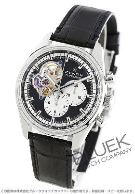 ゼニス エル プリメロ クロノマスター オープン 1969 クロノグラフ アリゲーターレザー 腕時計 メンズ Zenith 03.2042.4061/21.C496